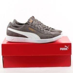 Womens Puma Suede Sneaker Everyday Shoes Gray SZ 6
